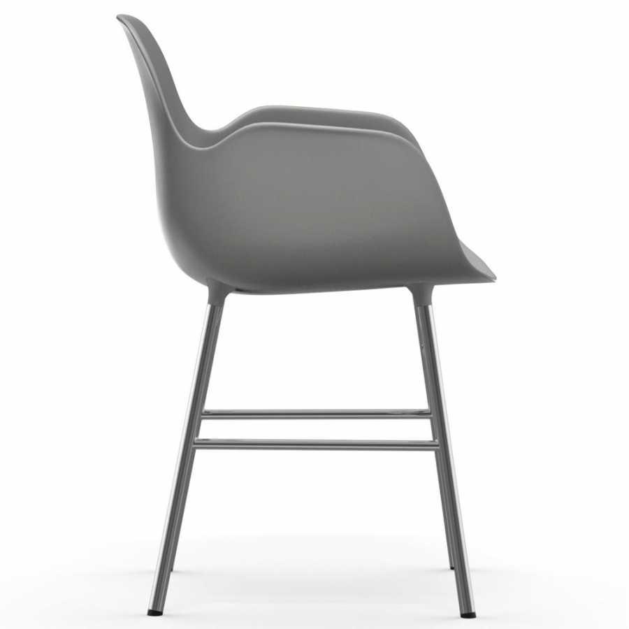 Normann Copenhagen Form Armchair - Chrome - Grey