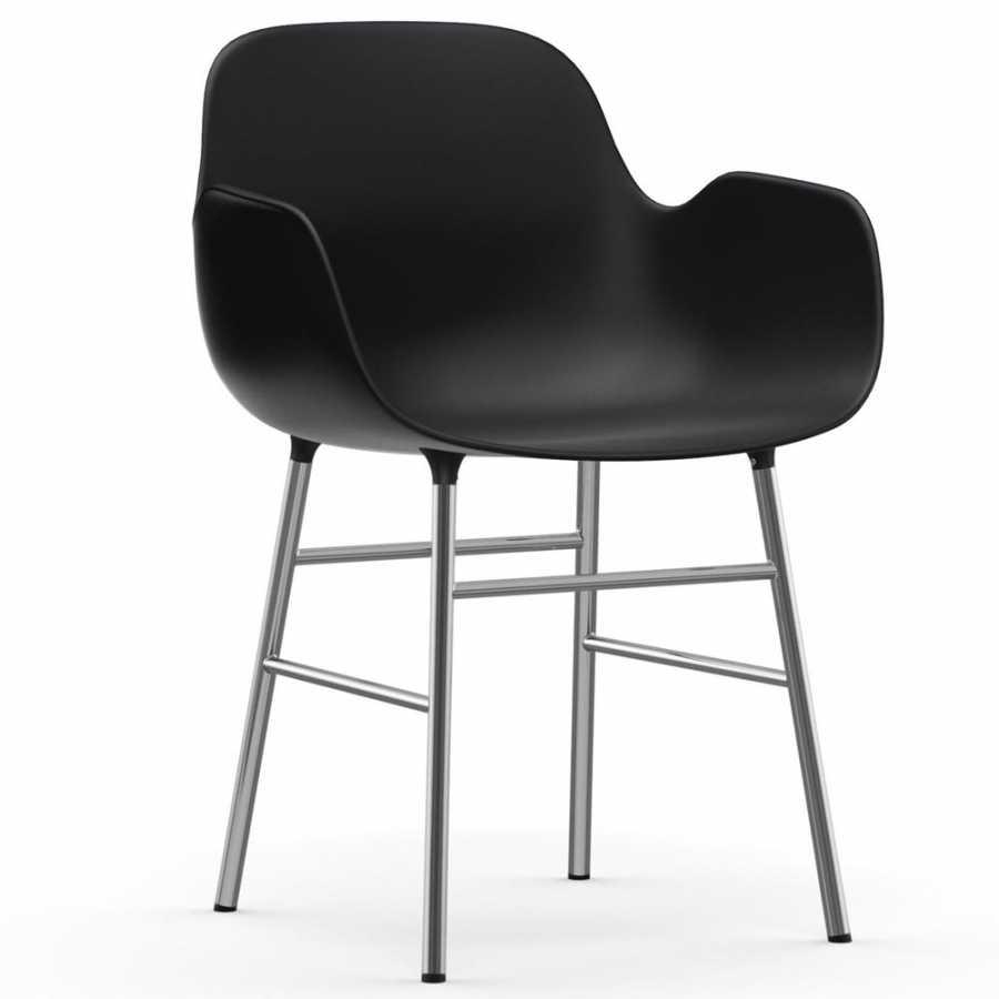Normann Copenhagen Form Armchair - Chrome - Black