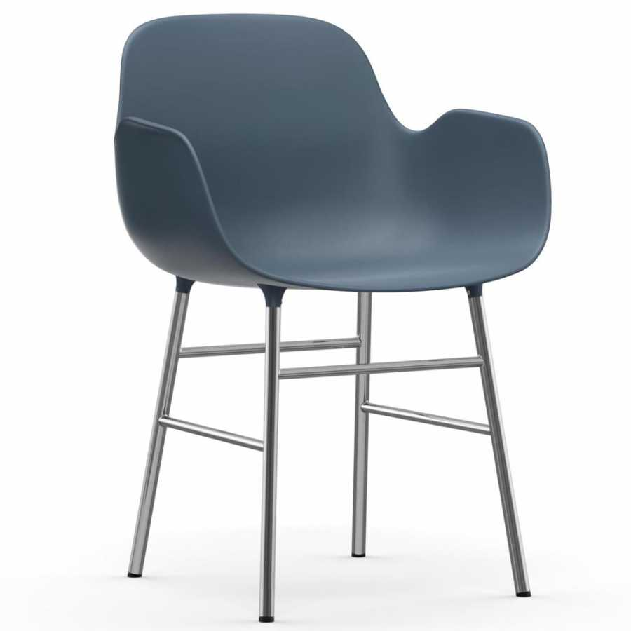 Normann Copenhagen Form Armchair - Chrome - Blue