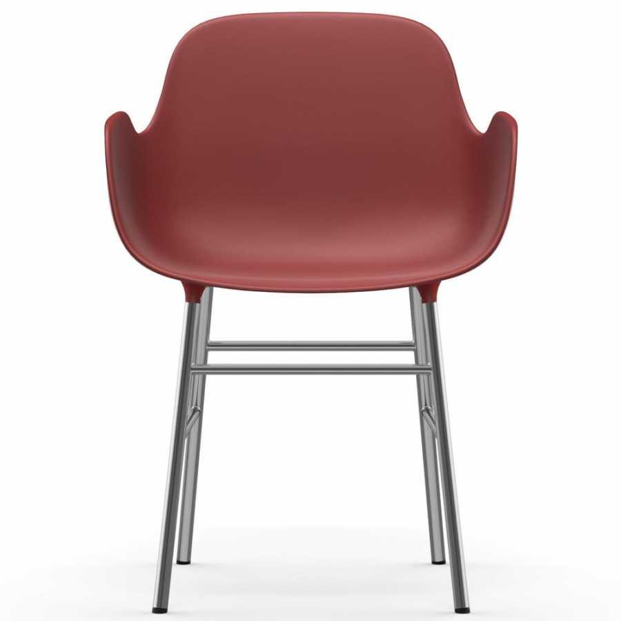 Normann Copenhagen Form Armchair - Chrome - Red
