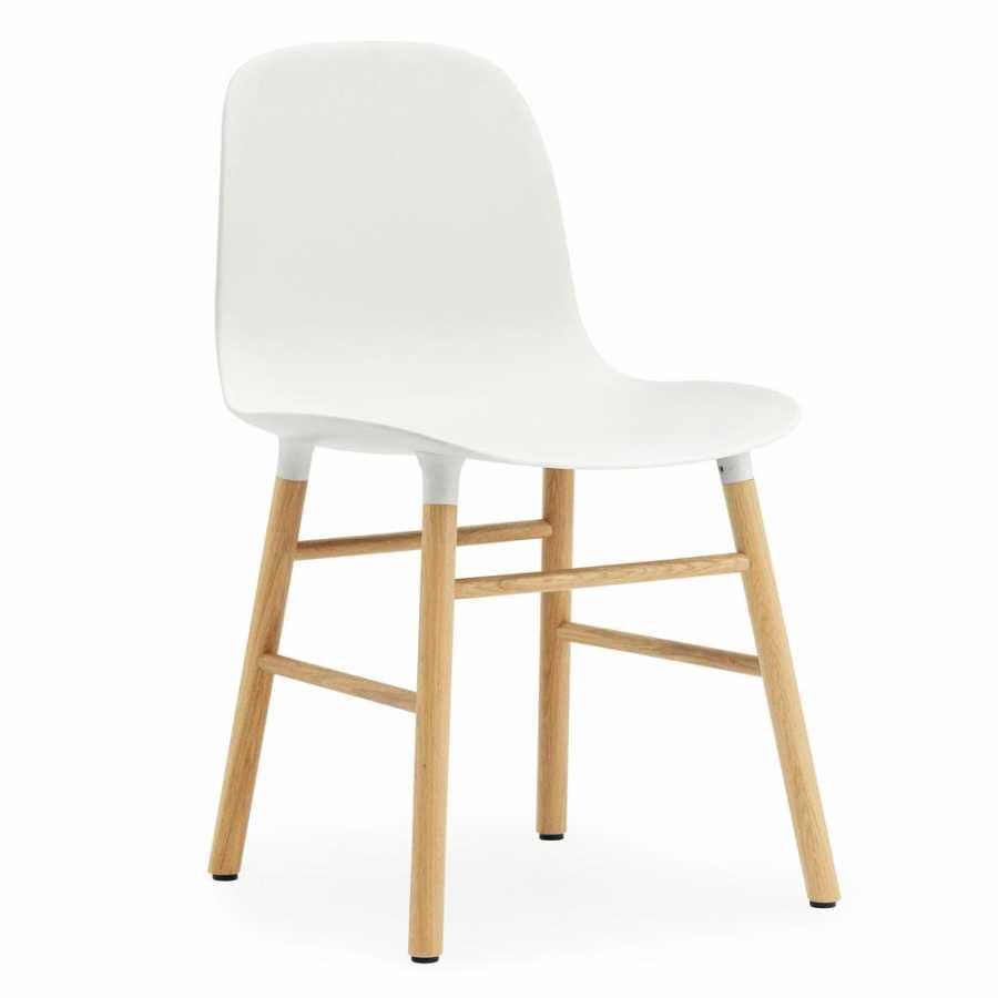 Normann Copenhagen Form Chair - Oak - White