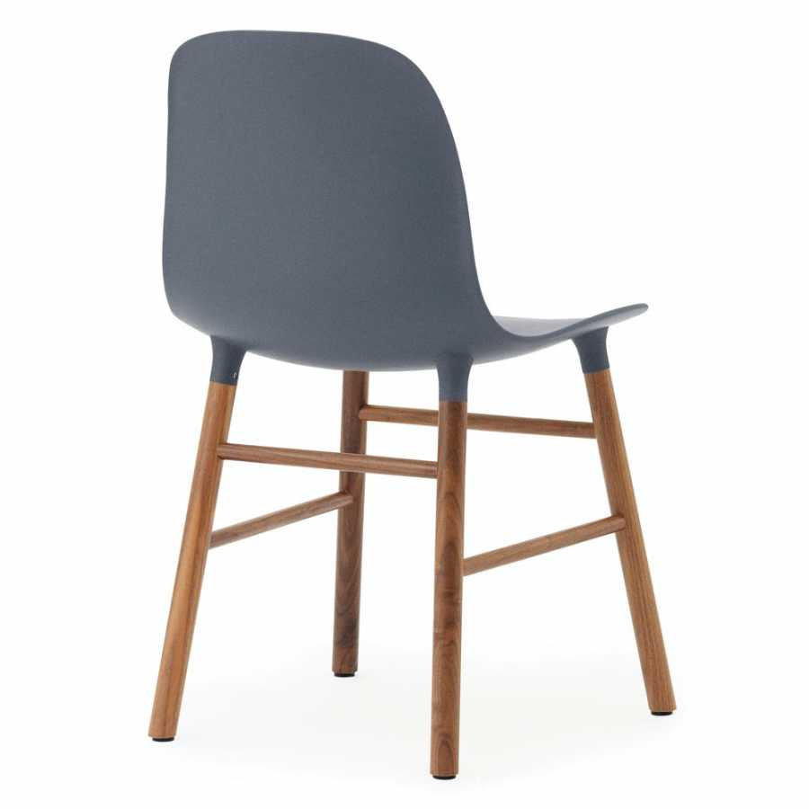 Normann Copenhagen Form Chair - Walnut - Blue