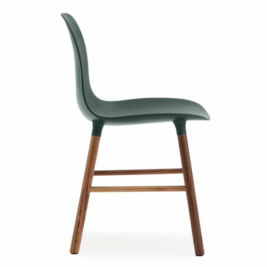 Normann Copenhagen Form Chair - Walnut - Green