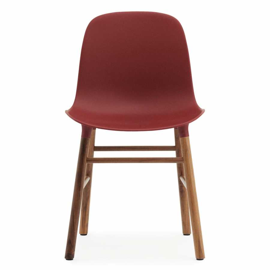 Normann Copenhagen Form Chair - Walnut - Red