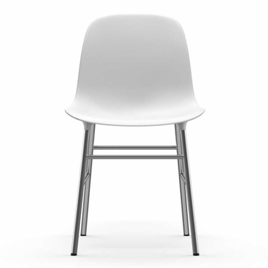 Normann Copenhagen Form Chair Chrome - White