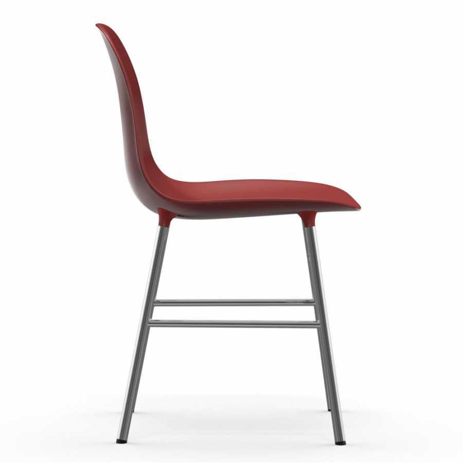 Normann Copenhagen Form Chair Chrome - Red