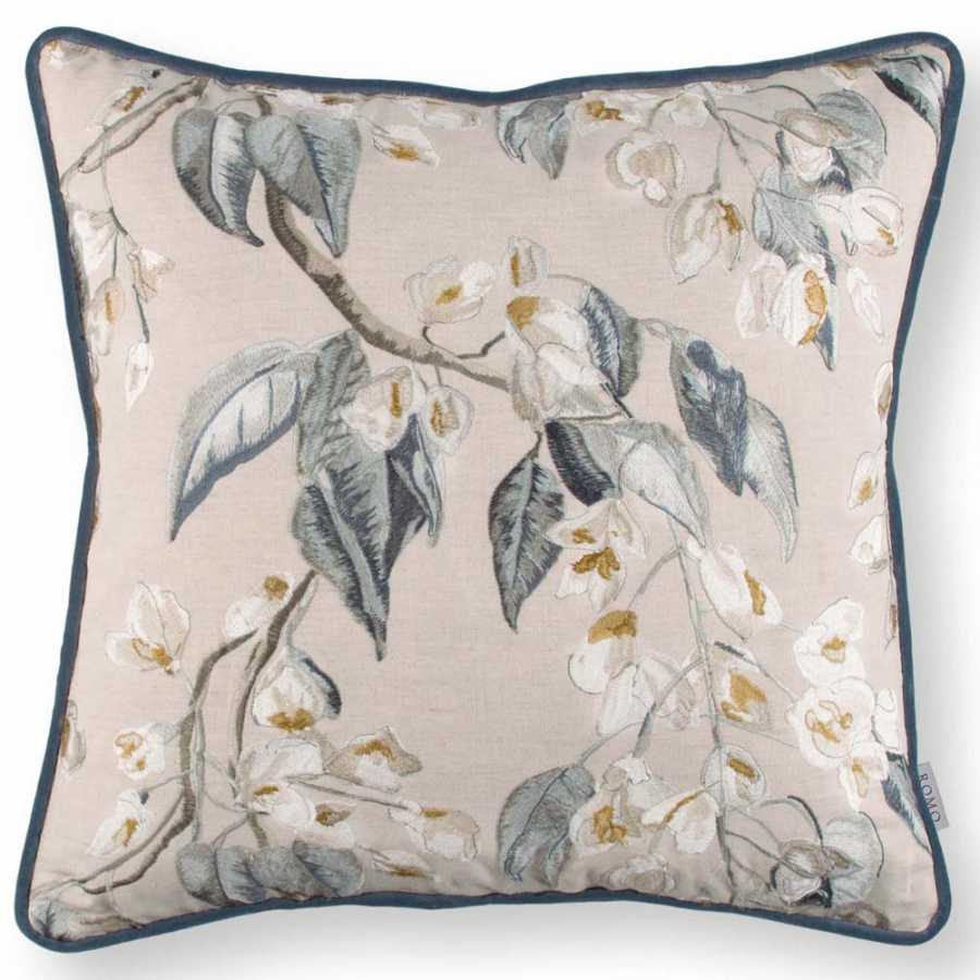 Romo Wisteria Embroidery Cushion - Cumin