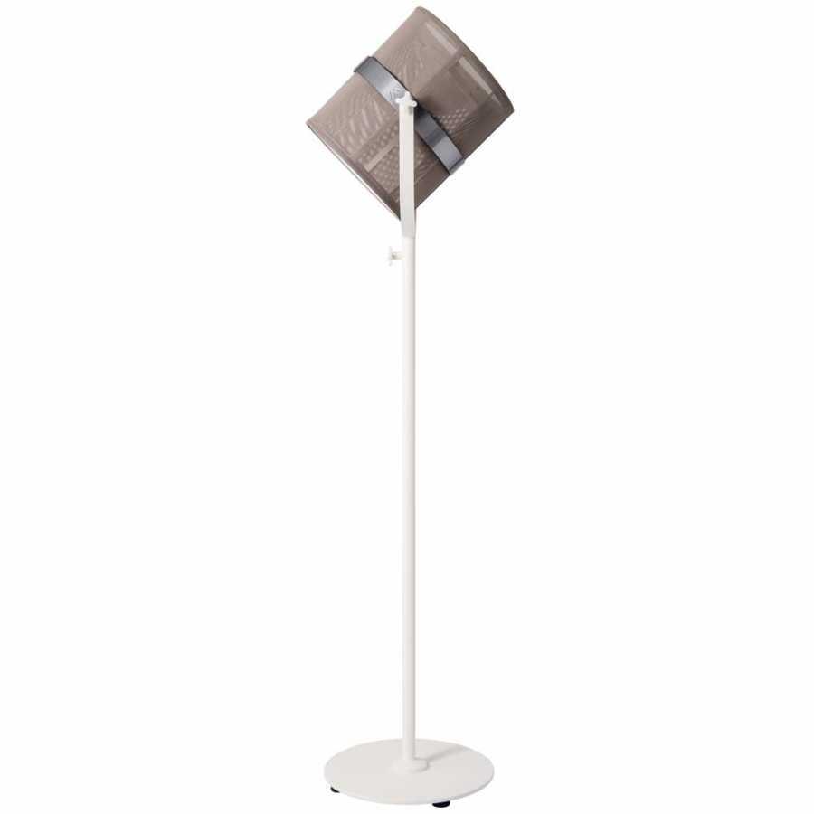 Skyline Design Paris Floor Lamp - Taupe & White