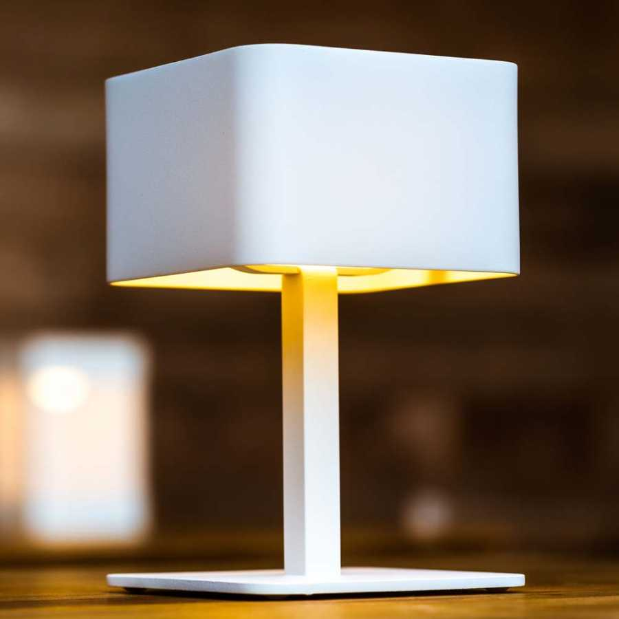 Skyline Design Pose Table Lamp - White - Square