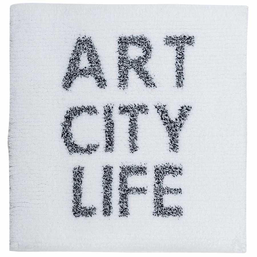 Sorema Art City Life Bath Mat - White