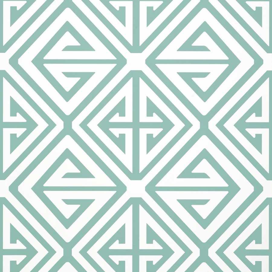 Thibaut Bridgehampton Demetrius T24307 Aqua Wallpaper