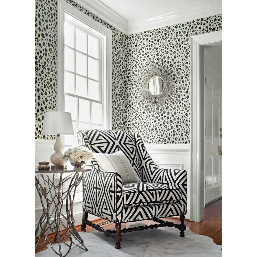 Thibaut Bridgehampton Panthera T24377 Black and White Wallpaper
