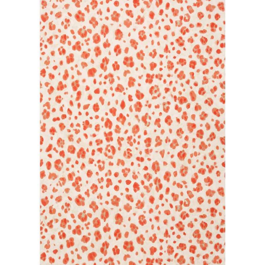 Thibaut Bridgehampton Panthera T24380 Coral Wallpaper