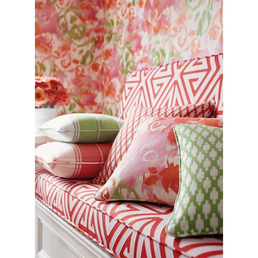 Thibaut Bridgehampton Waterford Floral T24340 Pink Wallpaper