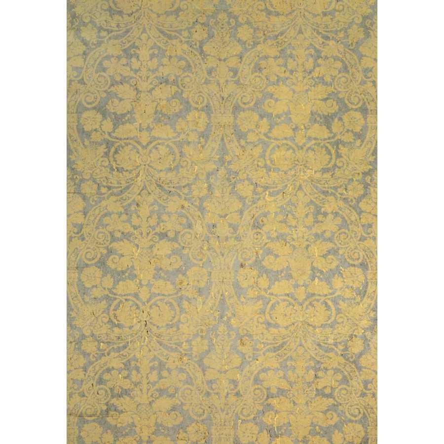 Thibaut Damask Resource 4 Curtis Damask T7601 Metallic Gold Wallpaper