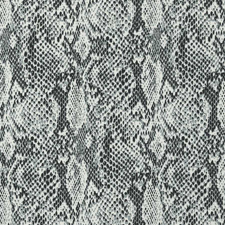Thibaut Faux Resource Boa T75169 Black and White Wallpaper