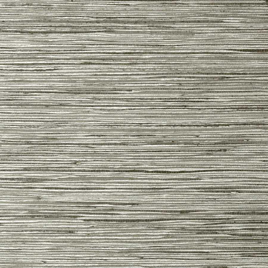 Thibaut Faux Resource Jindo Grass T75120 Charcoal on Metallic Silver Wallpaper