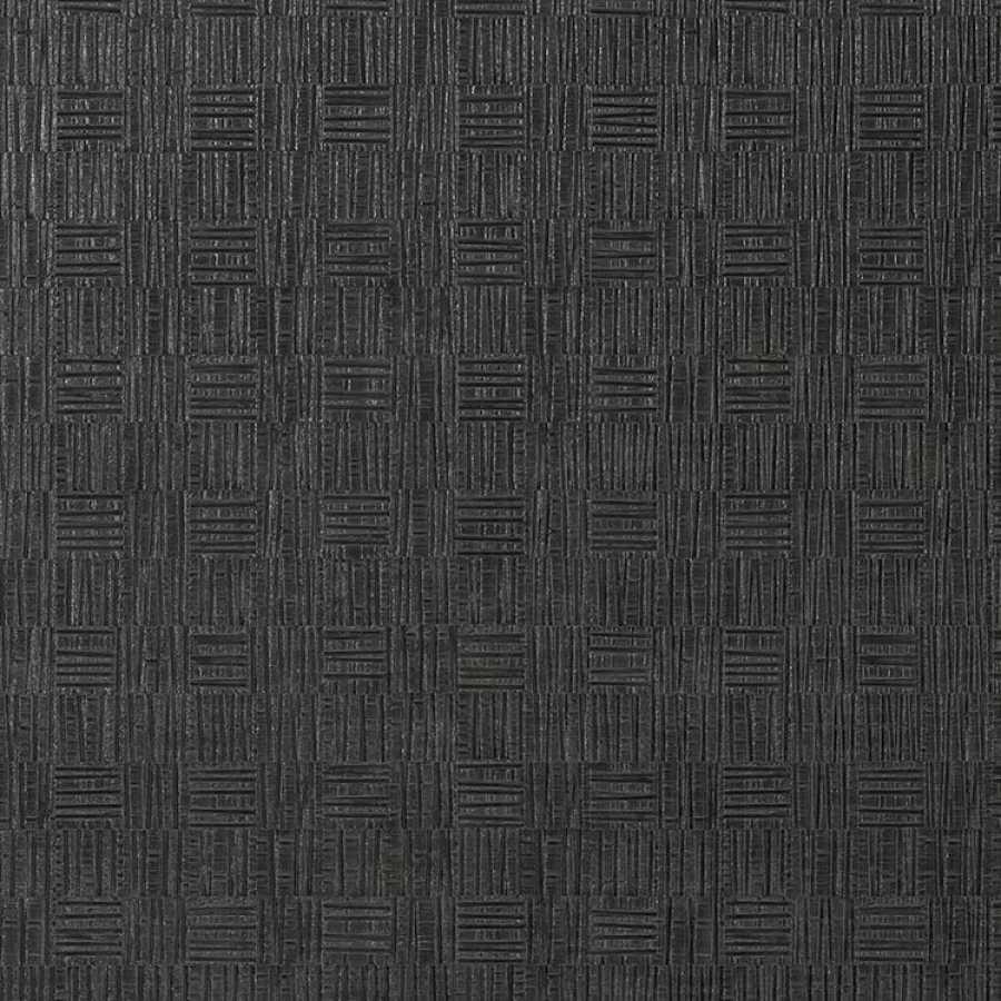 Thibaut Faux Resource Tunica Basket T75090 Black Wallpaper
