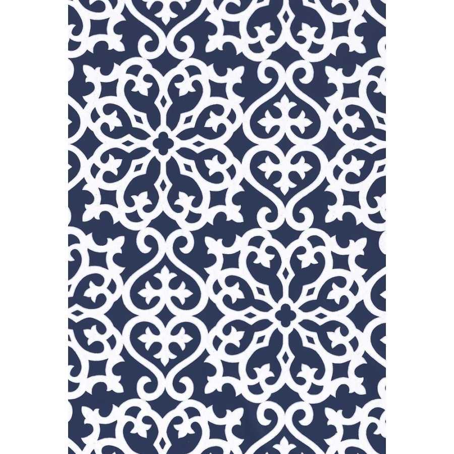 Thibaut Graphic Resource Allison T1830 Navy Wallpaper