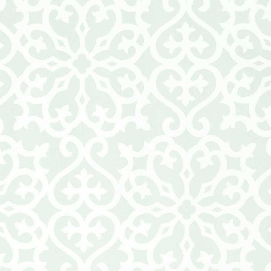 Thibaut Graphic Resource Allison T1832 Aqua Wallpaper