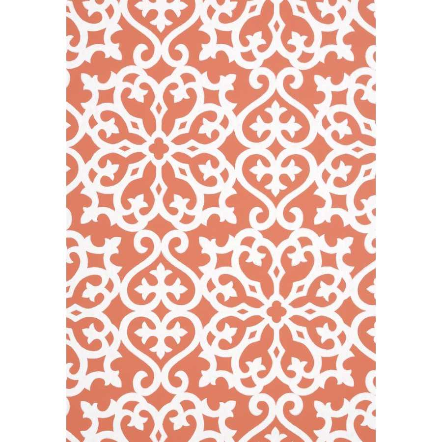 Thibaut Graphic Resource Allison T35179 Persimmon Wallpaper
