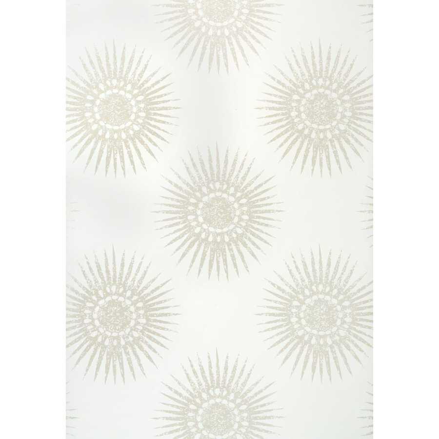 Thibaut Graphic Resource Bahia T35142 Pearl on White Wallpaper