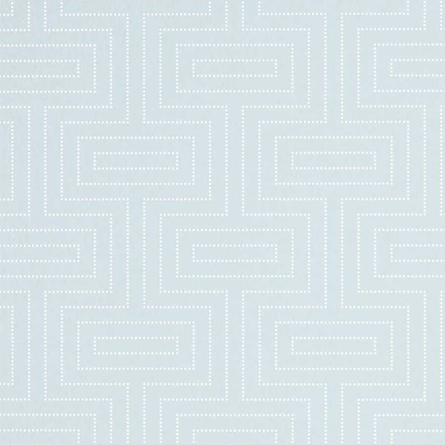 Thibaut Graphic Resource Broadway T35158 Robin's Egg Wallpaper