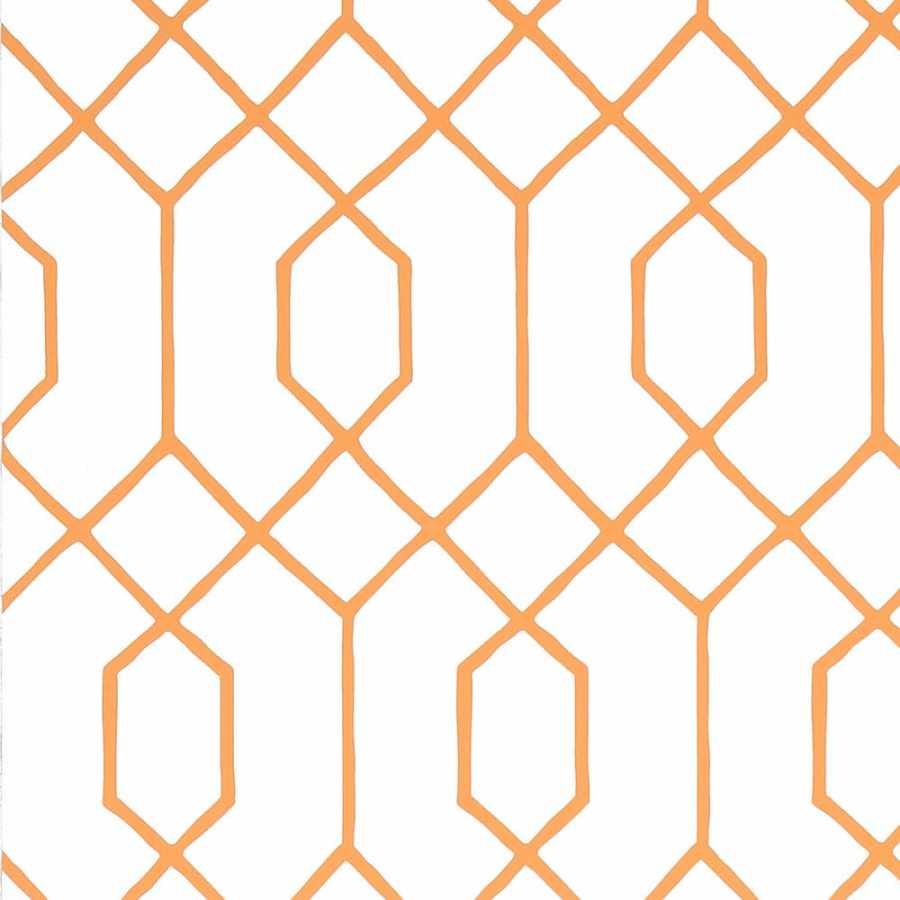 Thibaut Graphic Resource La Farge T35200 Orange Wallpaper
