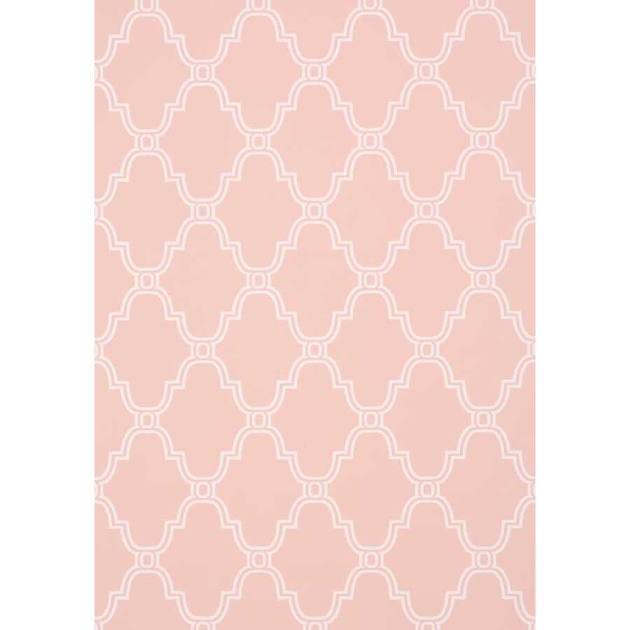 Thibaut Graphic Resource Stanbury Trellis T35117 Pink Wallpaper