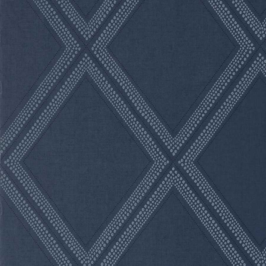 Thibaut Greenwood Diamond Head T85056 Navy Wallpaper