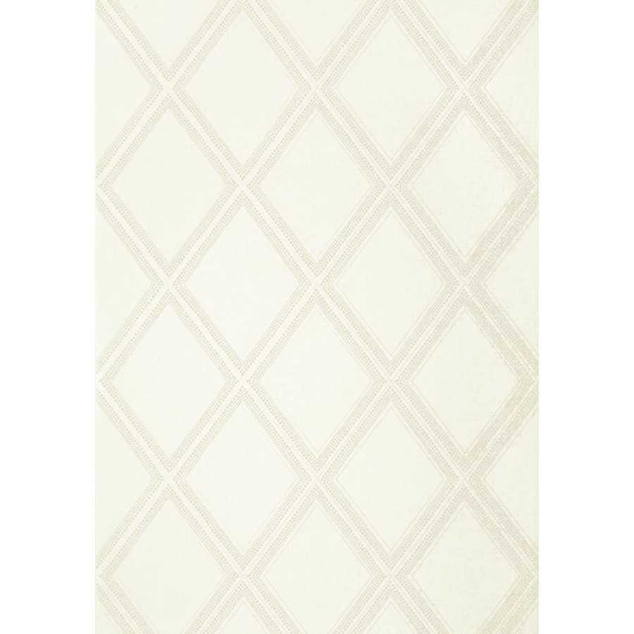 Thibaut Greenwood Diamond Head T85059 White Wallpaper