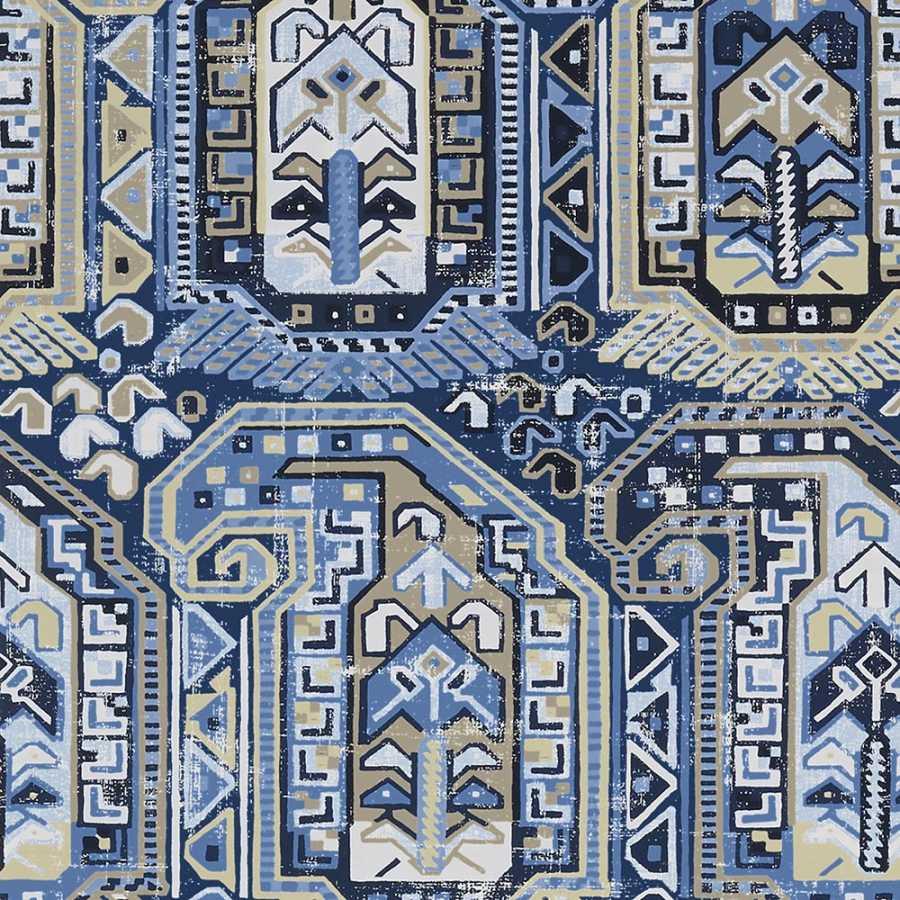 Thibaut Greenwood Gleniffer T85022 Blue and Beige Wallpaper