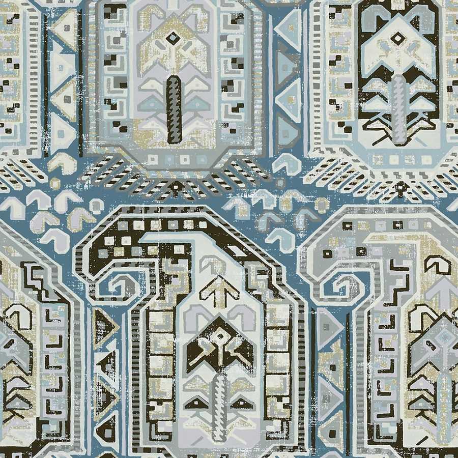 Thibaut Greenwood Gleniffer T85023 Aqua Wallpaper