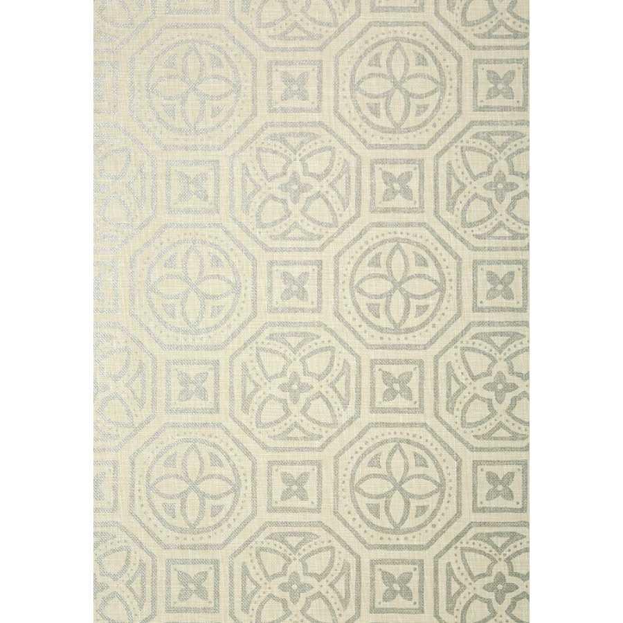Thibaut Natural Resource 2 Alexander T83025 Metallic Silver Wallpaper