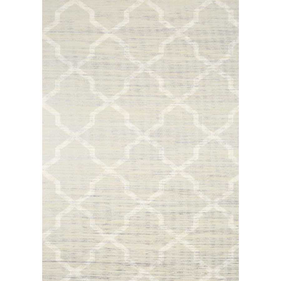 Thibaut Natural Resource 2 Carolyn Trellis T83030 Cream on Metallic Wallpaper