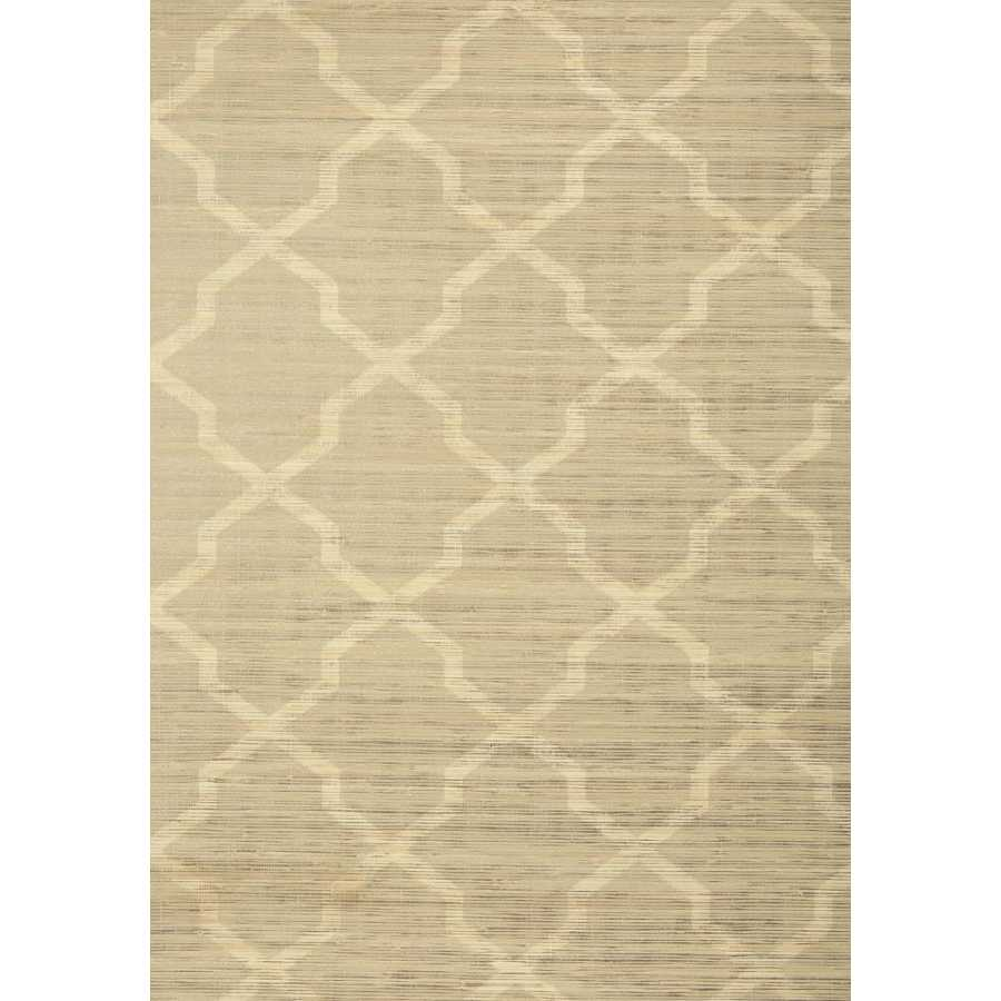 Thibaut Natural Resource 2 Carolyn Trellis T83031 Beige with Metallic Wallpaper