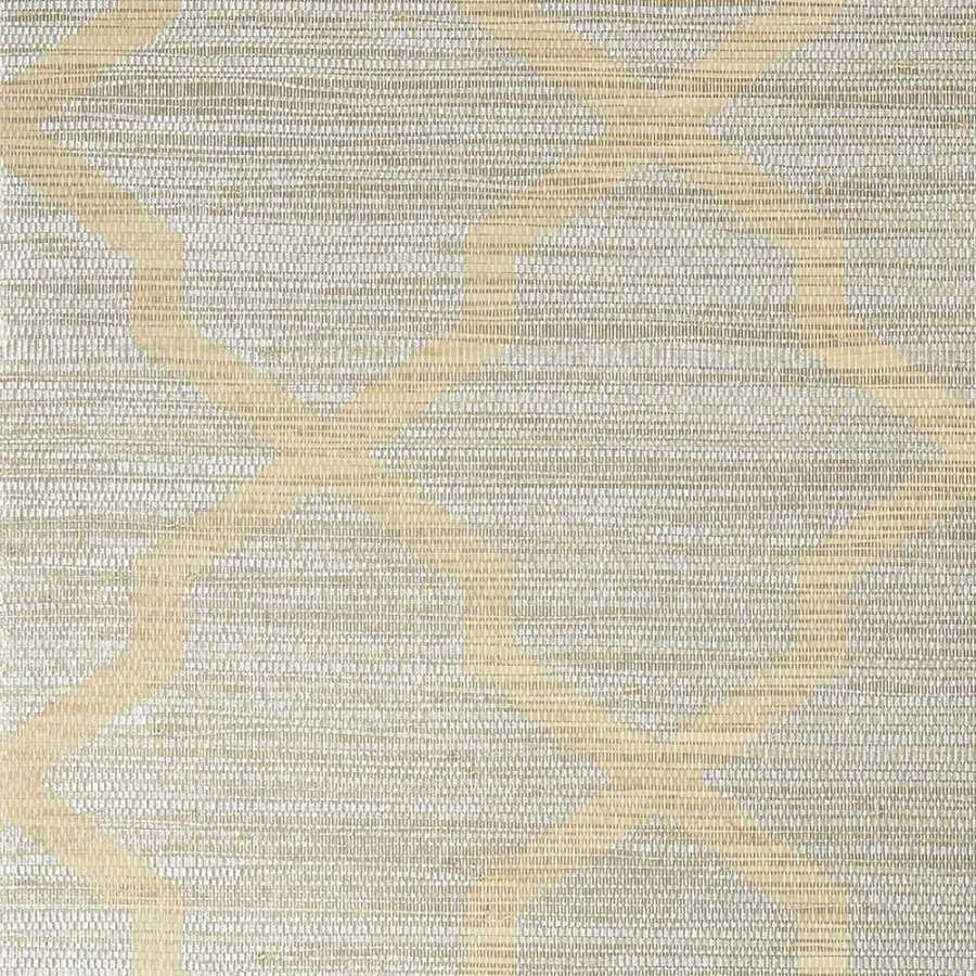 Thibaut Natural Resource 2 Carolyn Trellis T83033 Silver Wallpaper