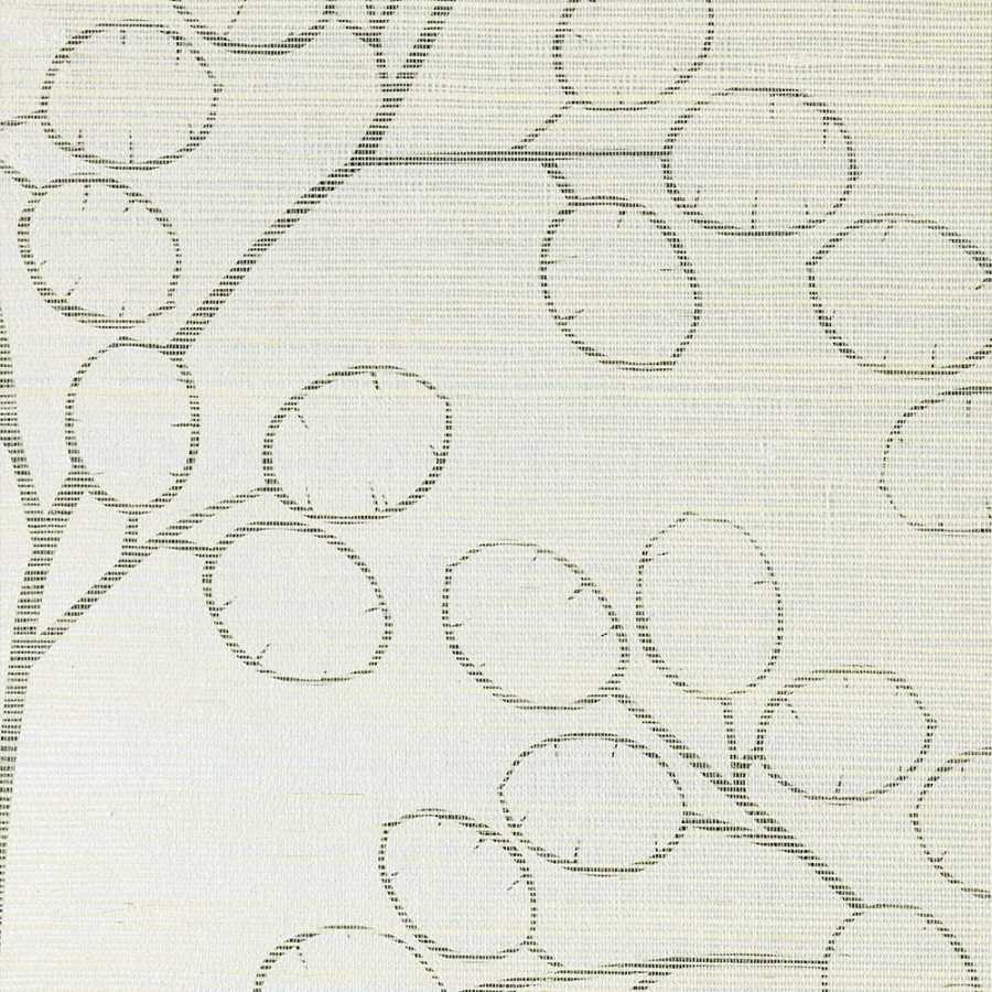Thibaut Natural Resource 2 Money Tree T83013 Pearl Wallpaper