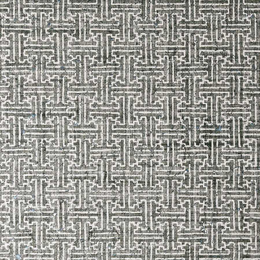Thibaut Natural Resource 2 Taza Cork T83004 Black Wallpaper