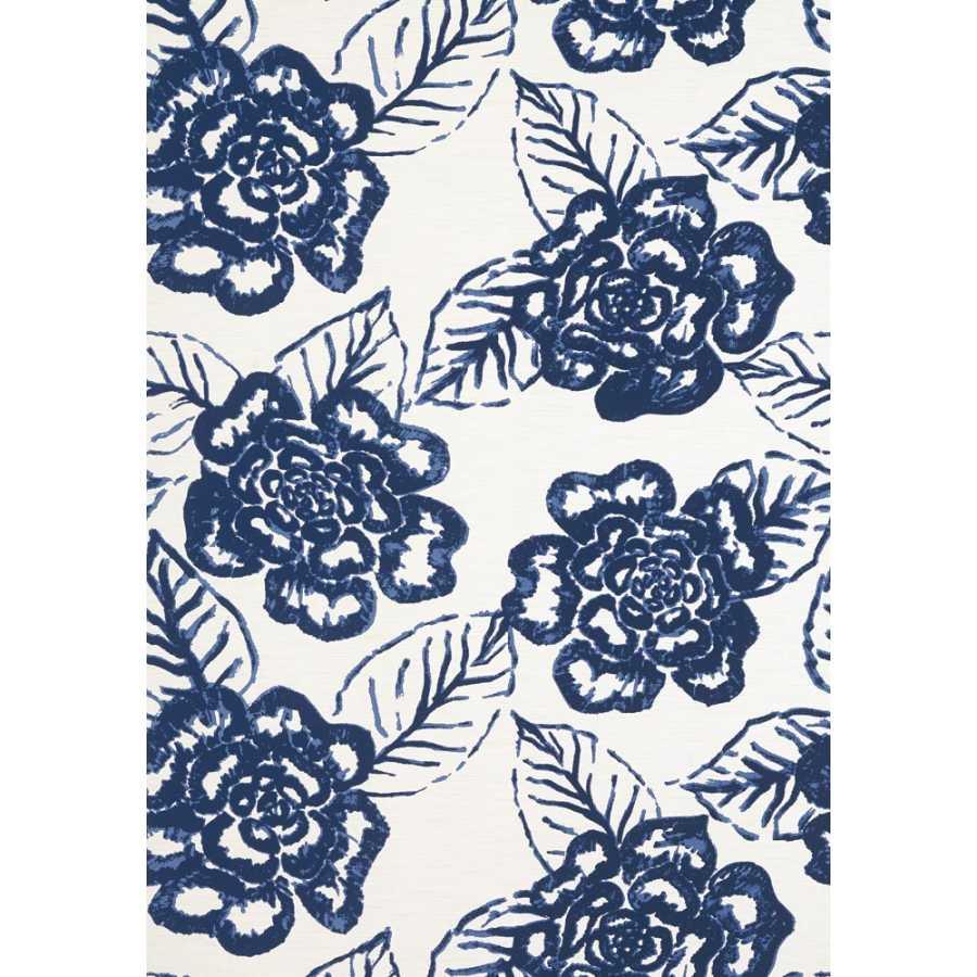 Thibaut Summer House Bonita Springs T13080 Navy Wallpaper