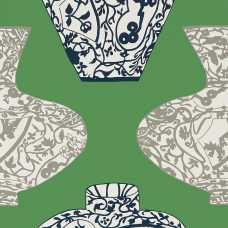 Thibaut Summer House Imari Vase T13125 Wallpaper