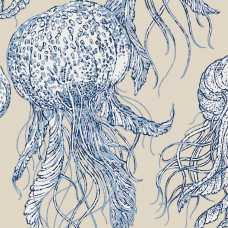 Thibaut Summer House Jelly Fish Bloom T13168 Wallpaper