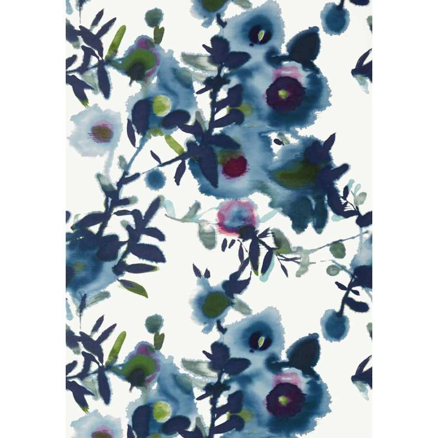Thibaut Summer House Open Spaces T13083 Blue Wallpaper