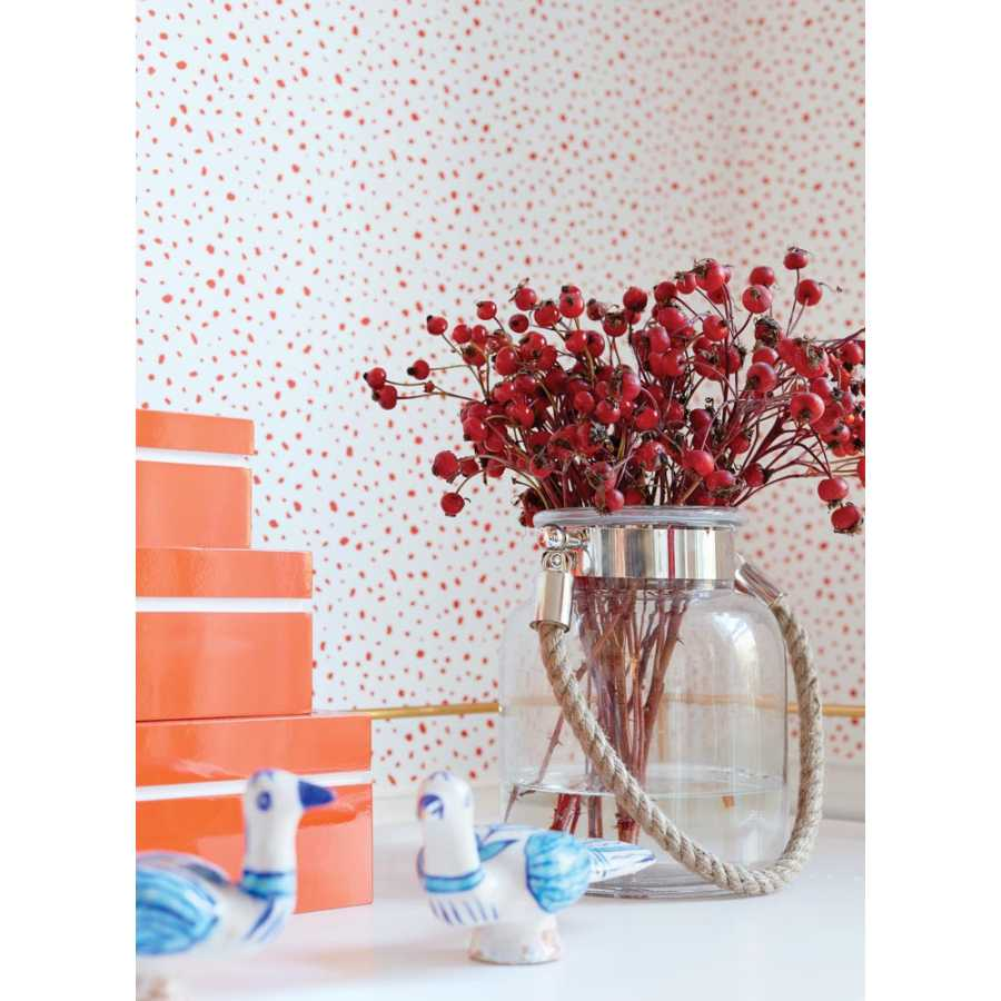 Thibaut Summer House Sandy Point T13154 Coral Wallpaper