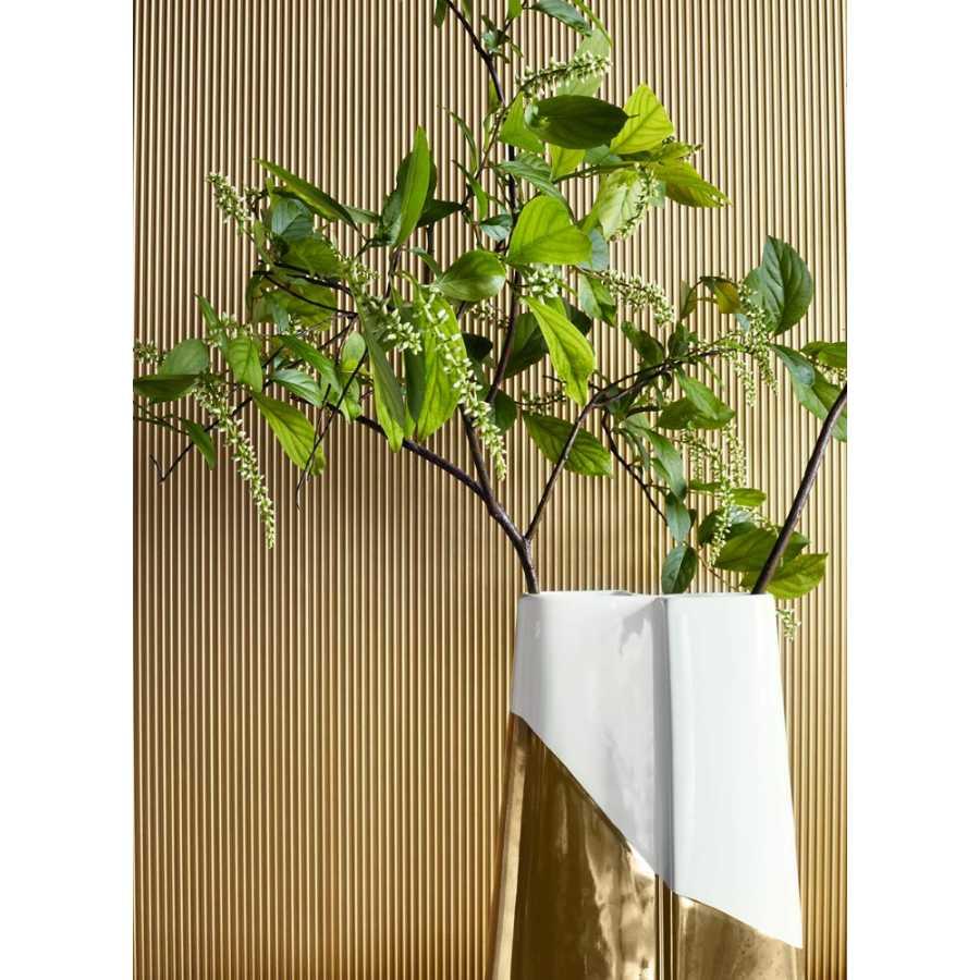 Thibaut Texture Resource 5 Luberon T57105 Metallic Gold Wallpaper