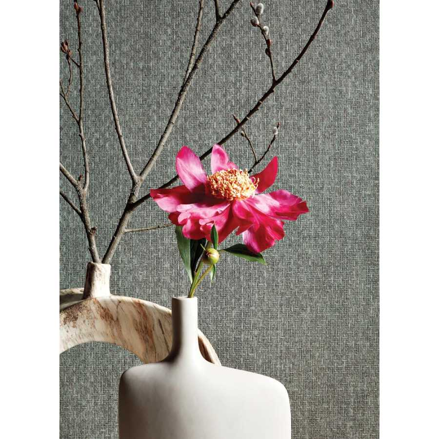Thibaut Texture Resource 5 Tobago Weave T57109 Charcoal Wallpaper