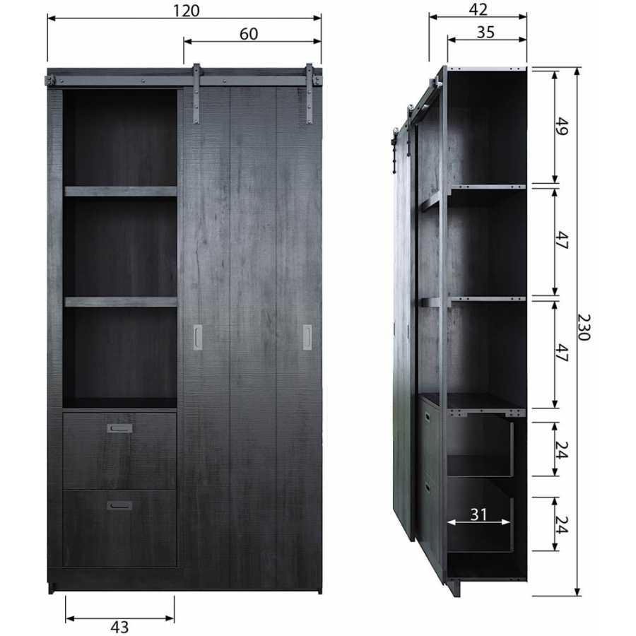 WOOOD Barn Cabinet - Black