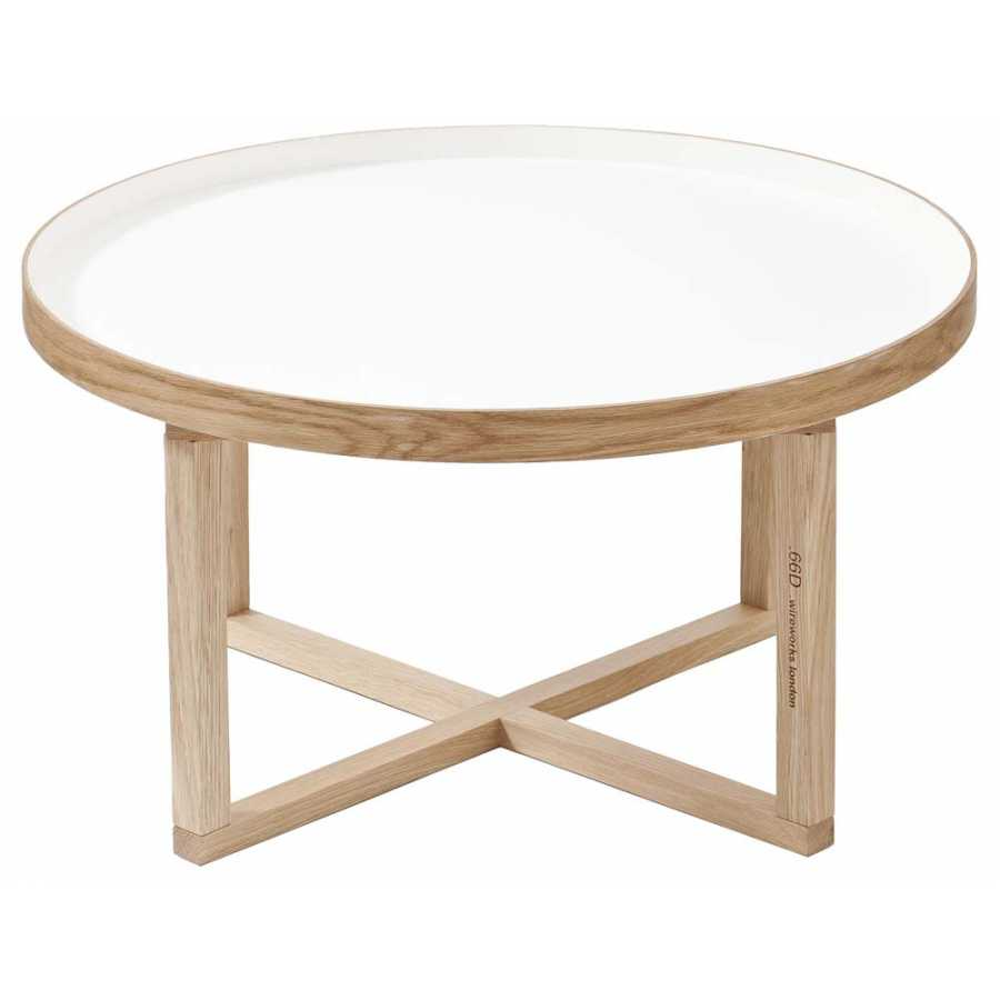 Wireworks 66D Round Coffee Table - White