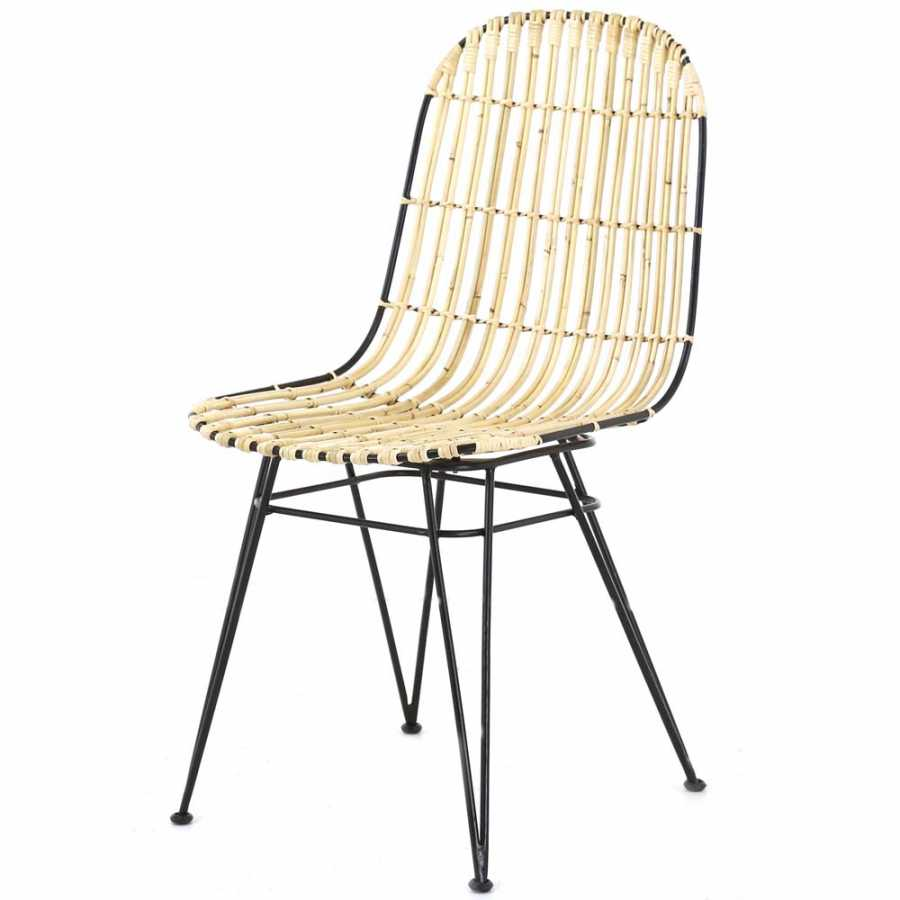 Zago Melody Rattan Chairs - Set of 2 - Natural