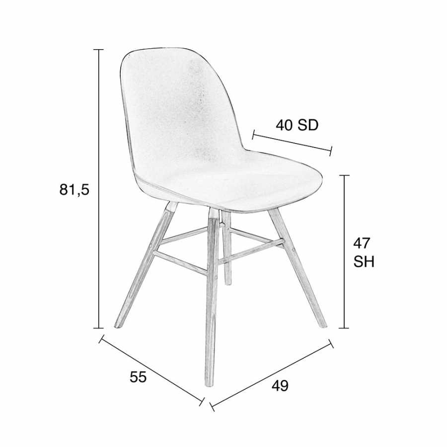 Zuiver Albert Kuip Chair - Sizes in cm